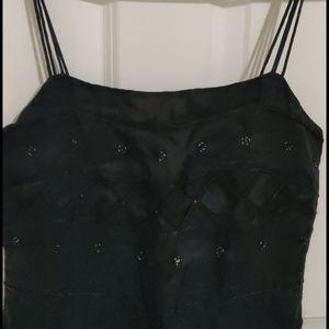 100%silk embroidery dress